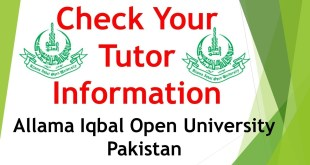 AIOU Tutors 2019