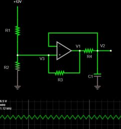 designing a single op amp triangle wave generator pcb isolation figure 1 triangle wave circuit schematic [ 931 x 1211 Pixel ]