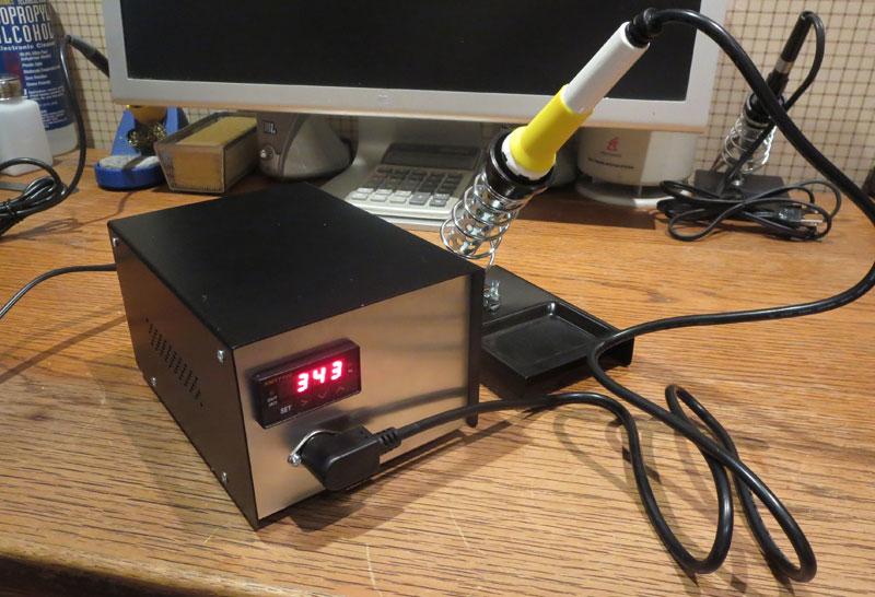 digital temperature controller circuit diagram pioneer super tuner d wiring diy soldering station pcb smoke