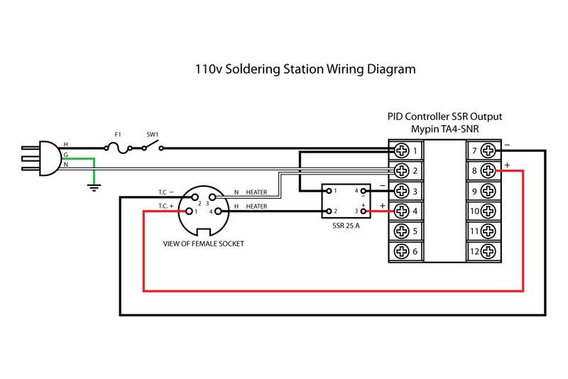 temperature controller wiring diagram Temperature Control Wiring Diagram diy 110v temperature controlled soldering station pcb smoke temperature control wiring diagram