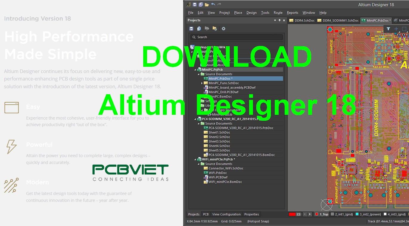 Download Altium Designer 18 Beta - PCBVIET