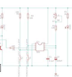 momentary relay diagram [ 1272 x 626 Pixel ]