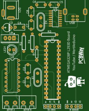 PCB design for 5 in 1 Robot car