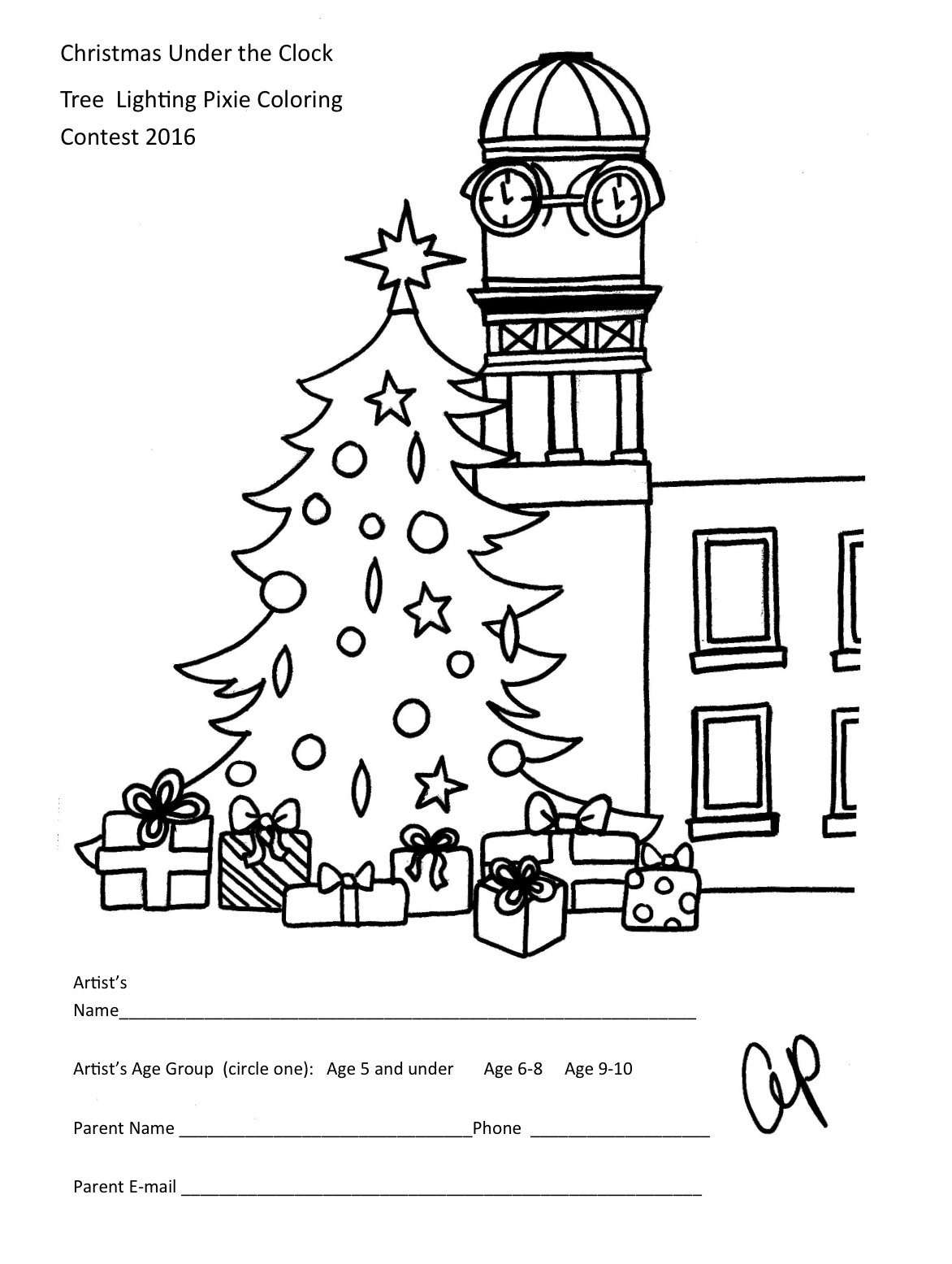 Contest Flyer Coloring Pages