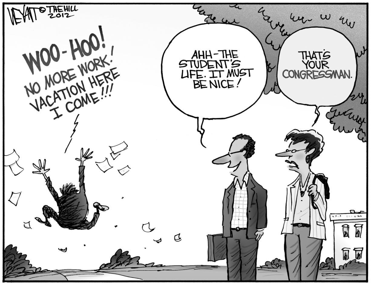 Editorial Cartoon Vacation Time