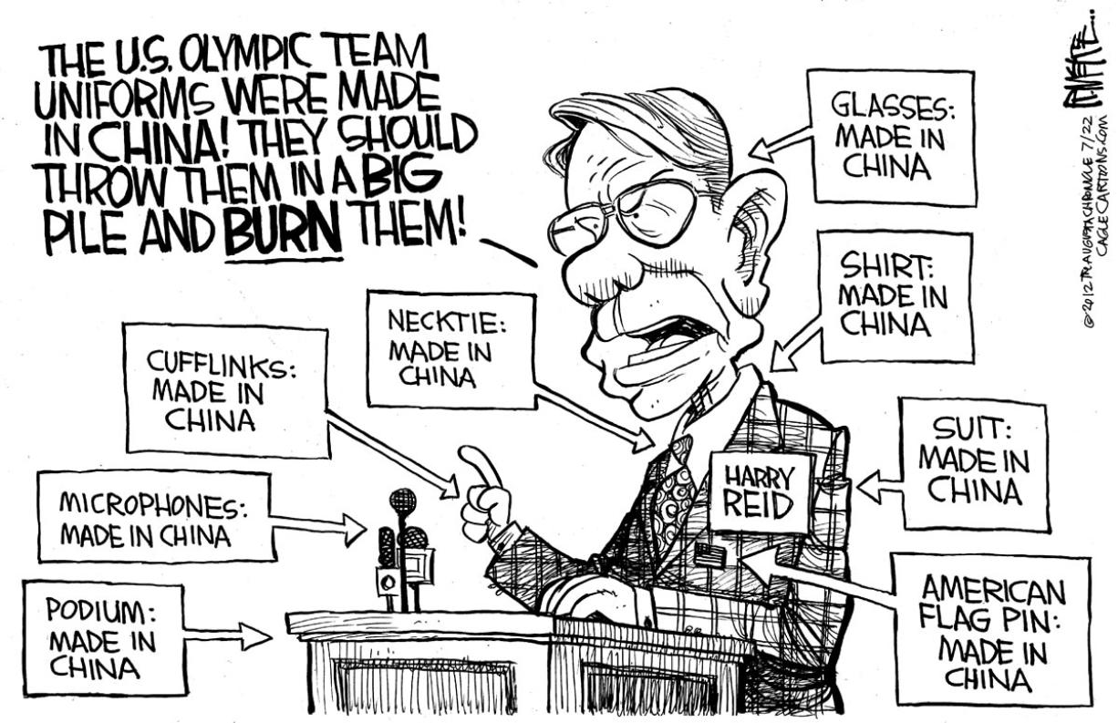 Editorial Cartoon Outrage Over Made In China