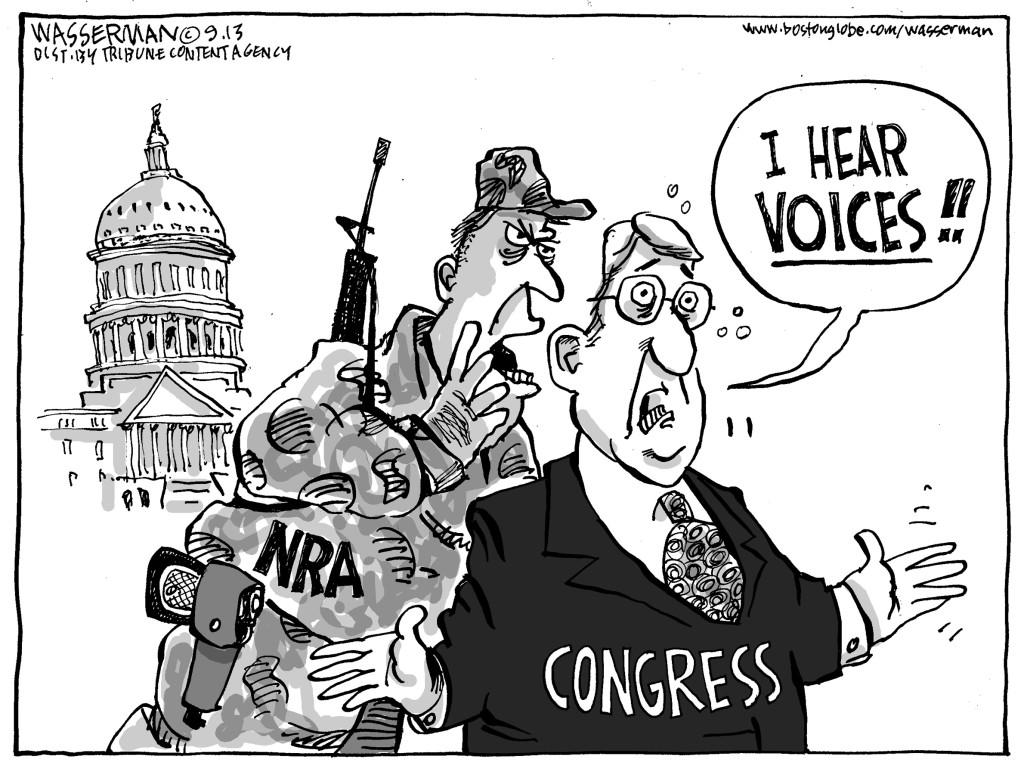 Editorial Cartoon The Nra Has Congress Ear