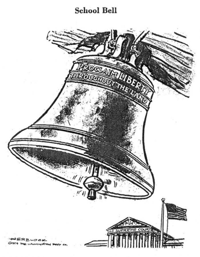 Works of influential political cartoonist Herblock on