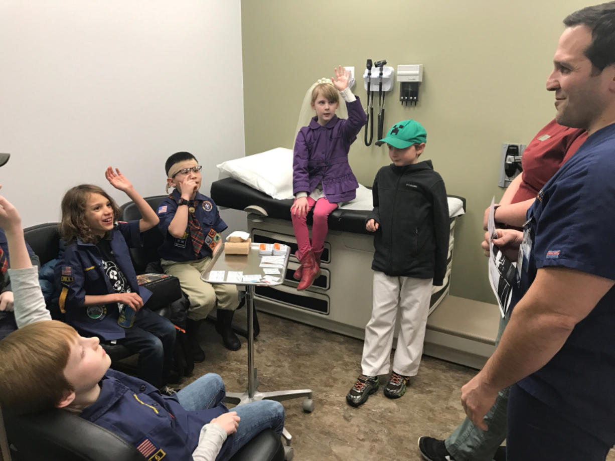 Scouts Earn First Responder Badges