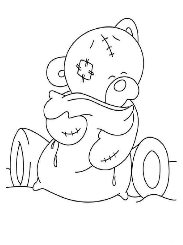 Teddy Bears Coloring Pages - free printable coloring page