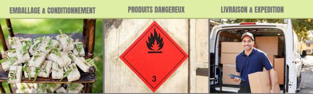 pce-emballages.com expédition livraison emballage conditionnement produits dangereux