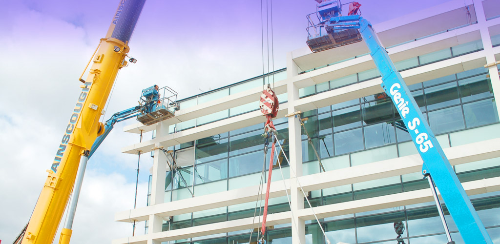 Externally, high quality white precast panels were used