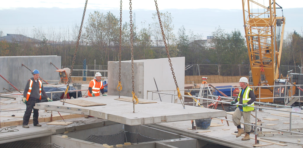 More than 250 precast concrete units were used for the block