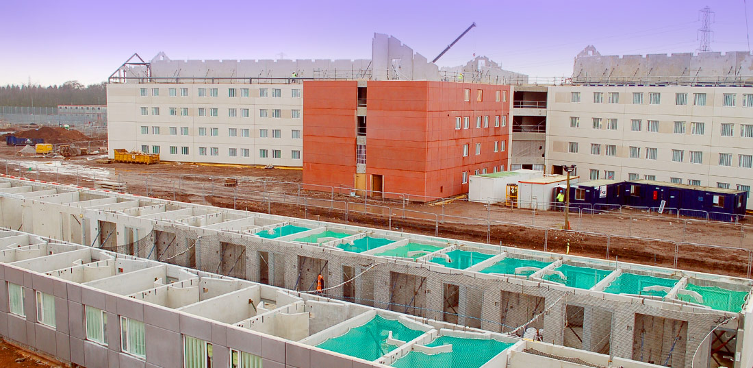 Fast-track formula for precast crosswall construction
