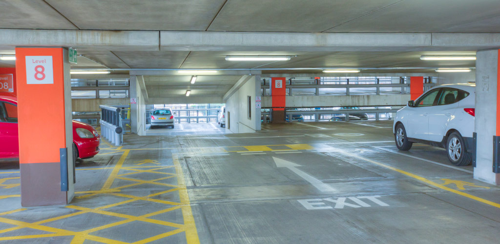 Precast concrete offsite manufactured car park by PCE