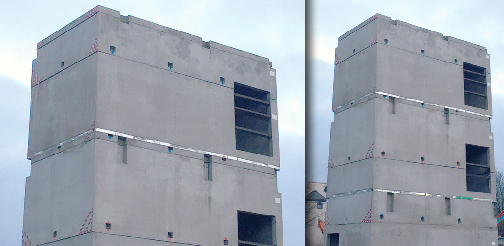 Precast core solution for police investigation centre