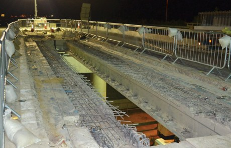 Chievely Bridge precast concrete beams by PCE Ltd