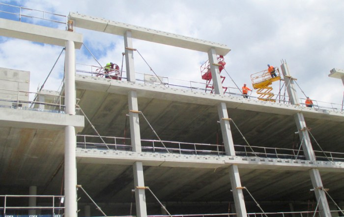 Nearly everything in the PCE project was precast