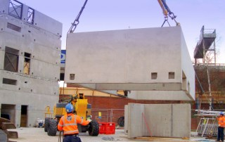 Precast core solution for police investigation centre by PCE