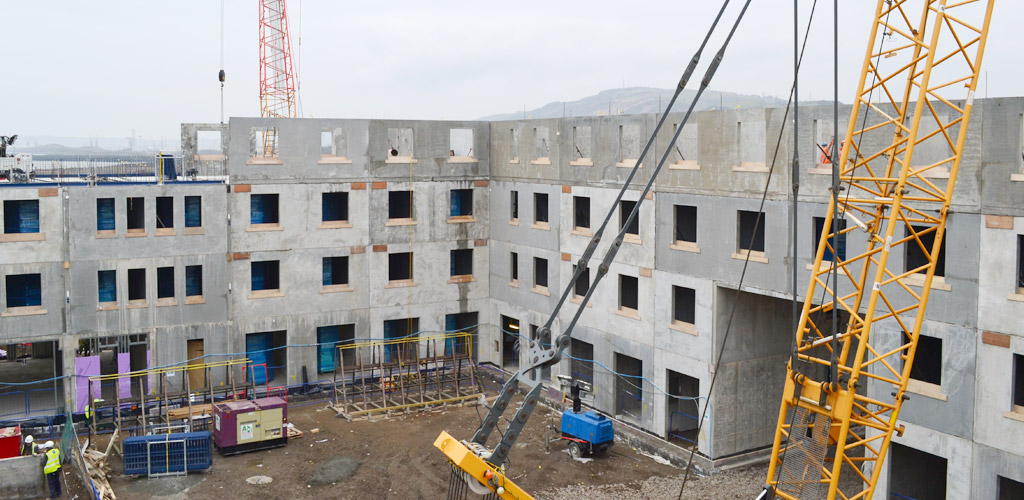 Precast student accommodation in Swansea