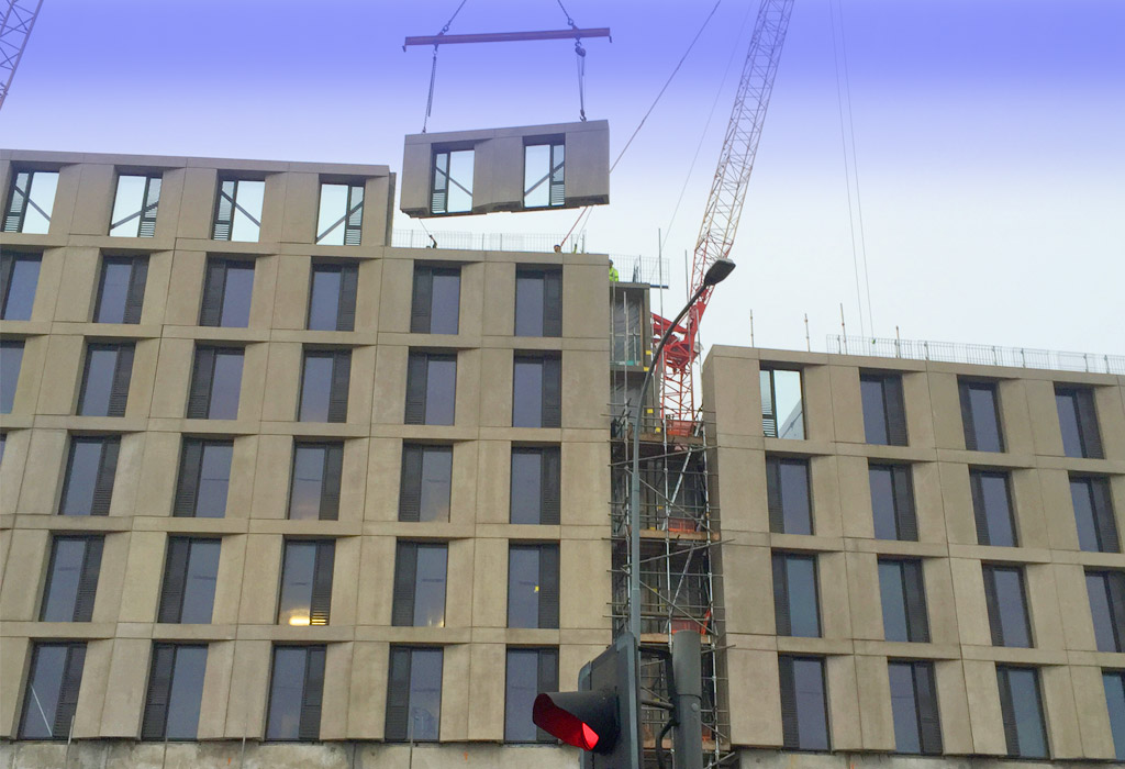 East Side update 2 – student accommodation precast construction