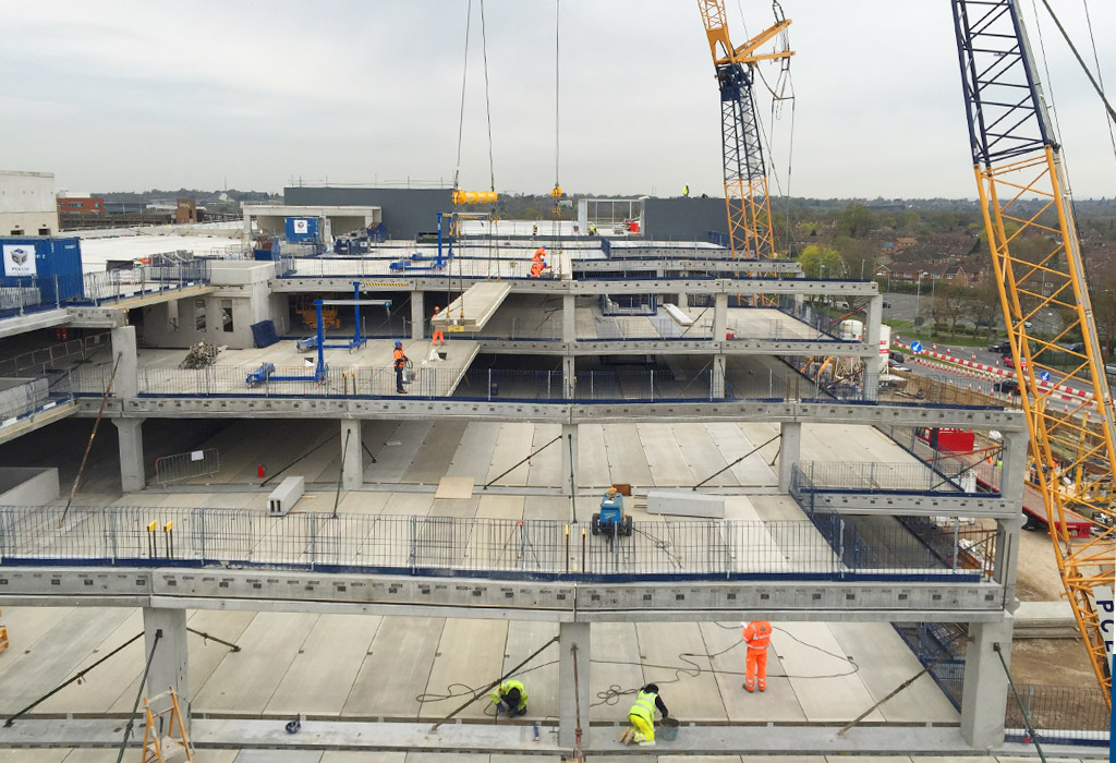PCE's cranes help maintain rapid progress at Lexicon Bracknell