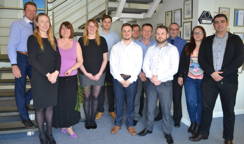 Project Director Chris McReynolds with the PCE Ltd Design Team