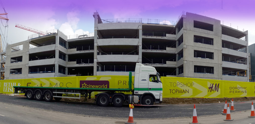Precast concrete GT units for Bracknell development