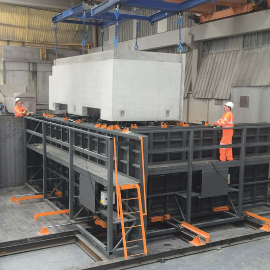 PreFastCore units are manufactured using a purpose designed complex fully adjustable moulds system