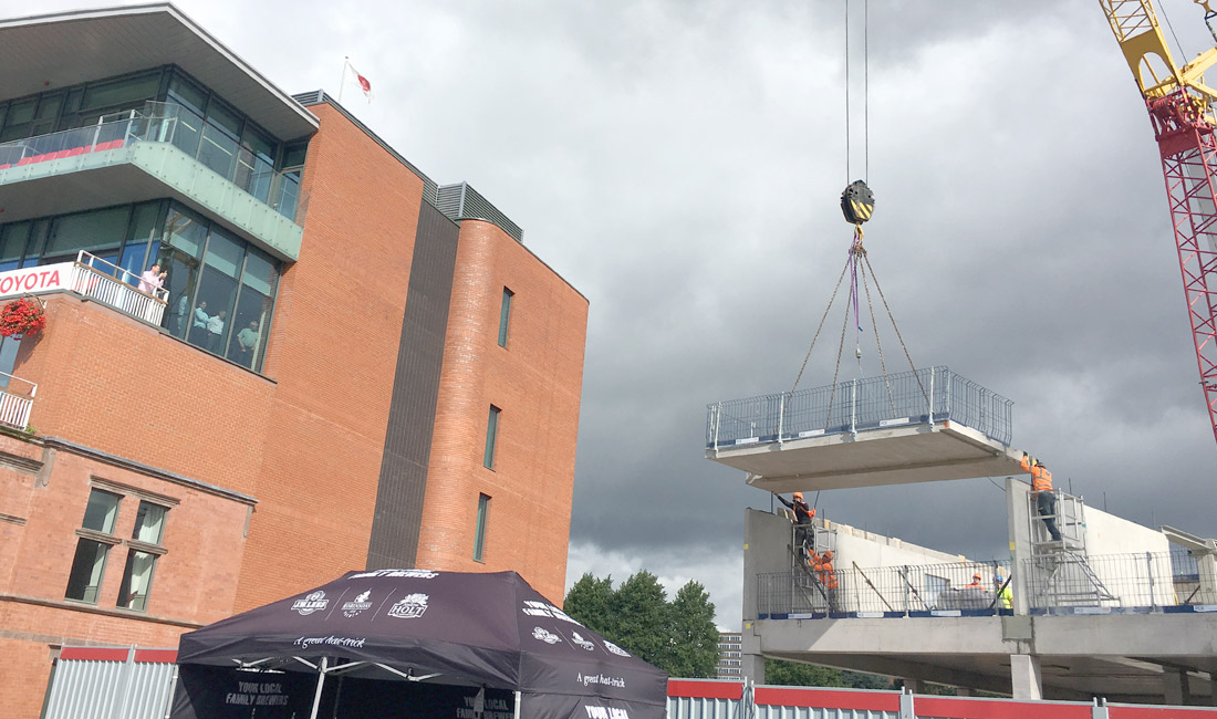 Emirates Old Trafford update 7 – construction of 1st floor