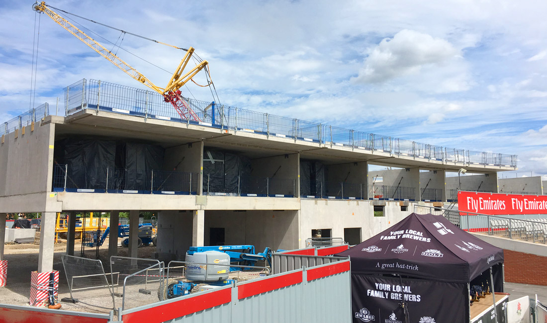 PCE Ltd installing offsite constructed precast concrete slabs