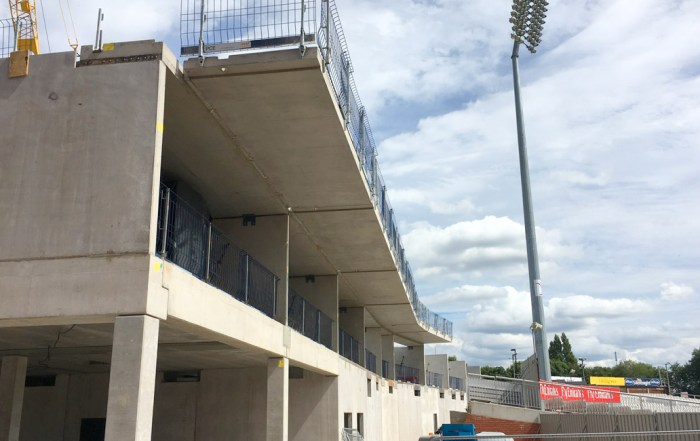 Precast concrete balcony slabs at Old Trafford Cricket Ground