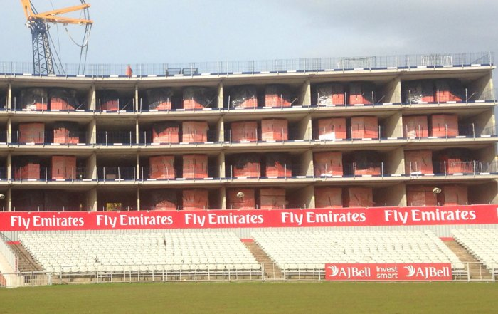Emirates Old Trafford Hotel precast concrete hybrid construction