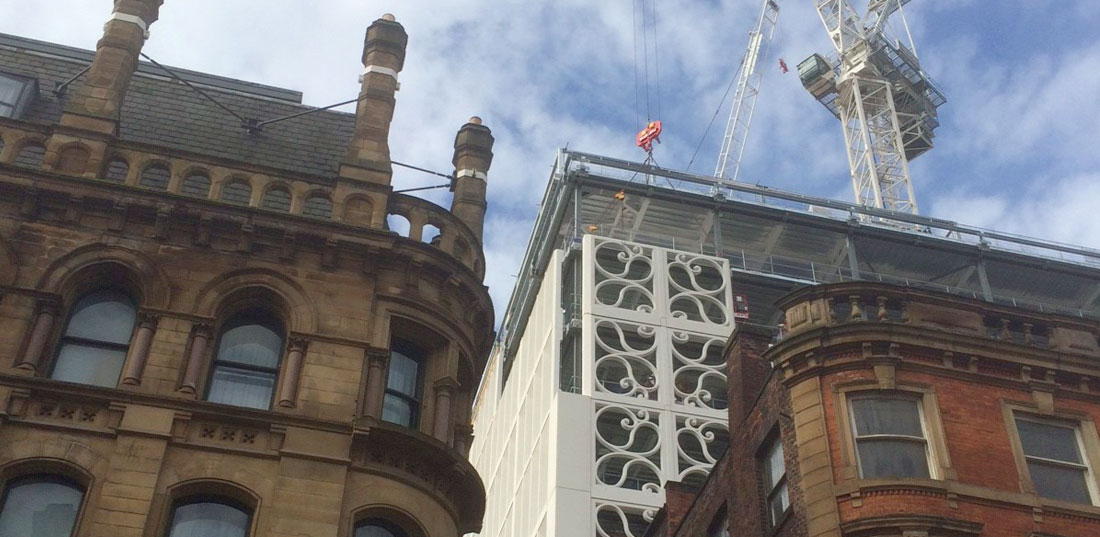 Two St Peter's Square update 3 – 470 architecturally finished precast components