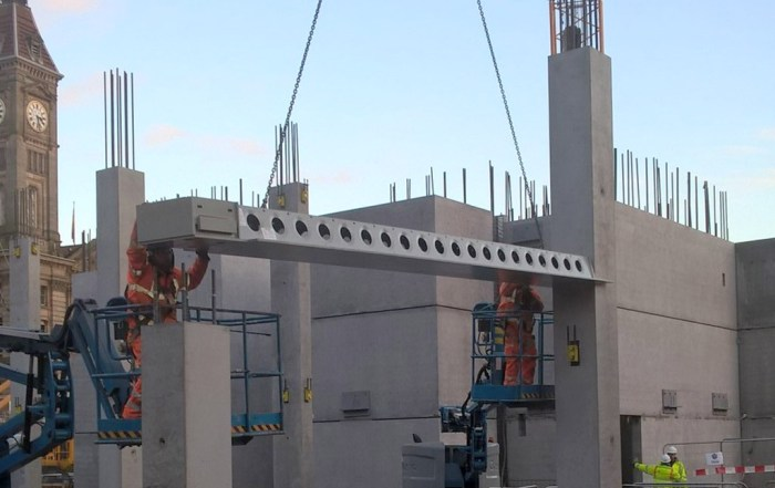 2,500 precast concrete and structural steel components manufactured offsite