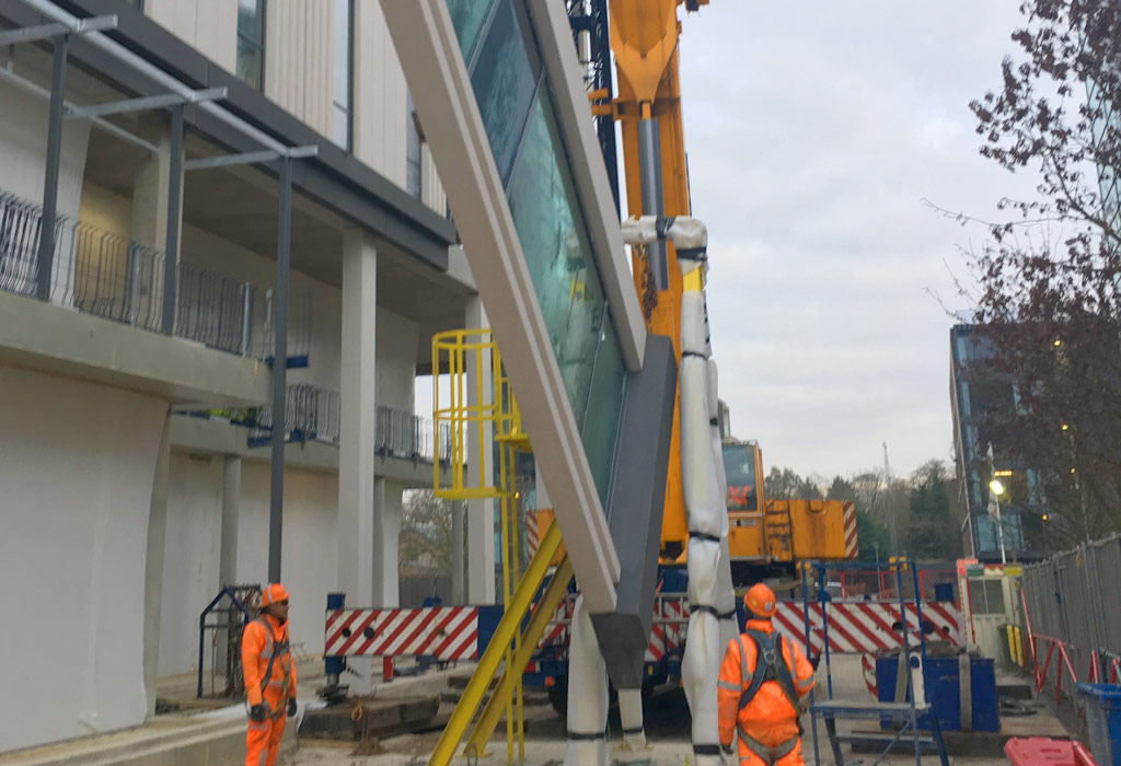 Capella update 14 – 120m2 external pre glazed cladding per day per crane