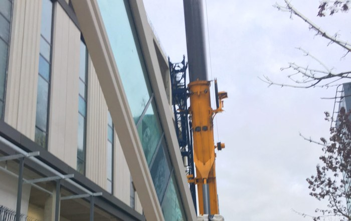 PCE Ltd installing offsite constructed panels at Capella
