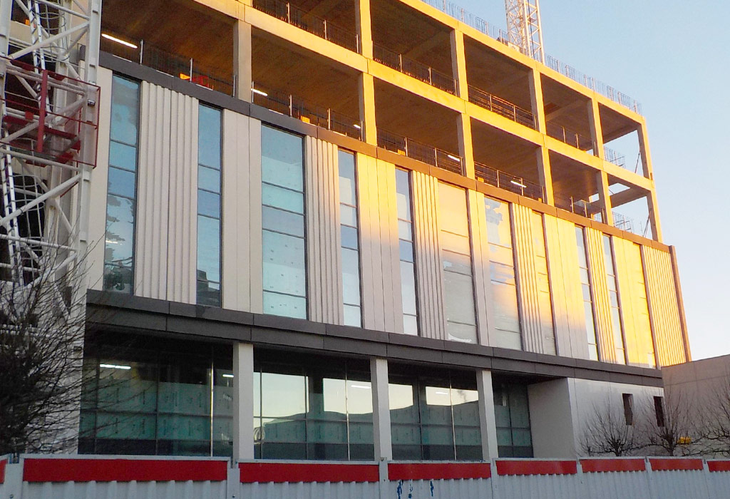 The structural frame design adopted is generally precast columns