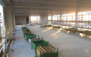 Over 290 precast concrete and steel beam components