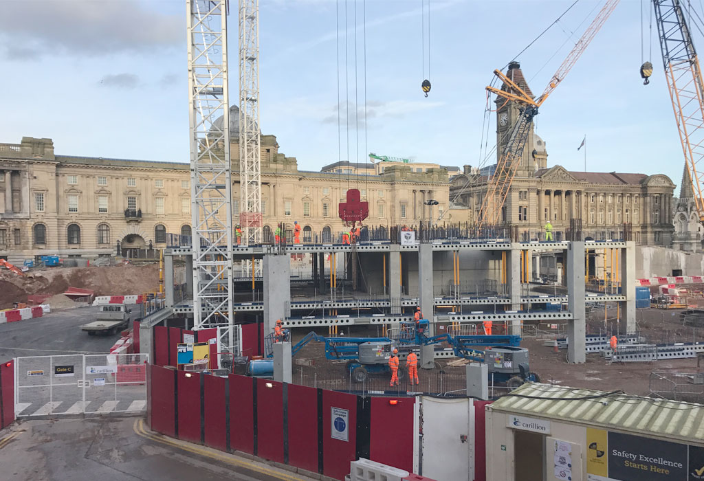 Paradise Circus update 6 – structural concrete being poured