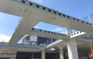 Over 2,500 precast concrete and structural steel components manufactured offsite