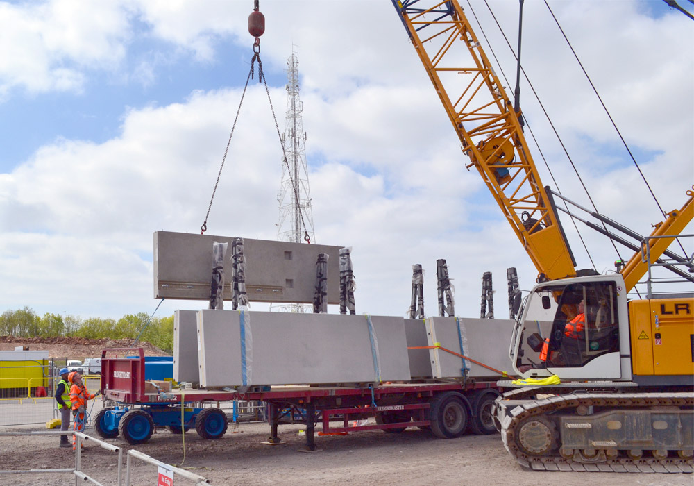 Arrival of PCEs precast reinforced concrete units
