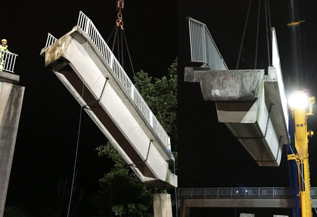 Mersey Gateway update 3 – removing the old precast stair flights