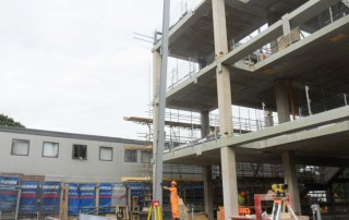 Steel frame for Hybrid Construction project in London
