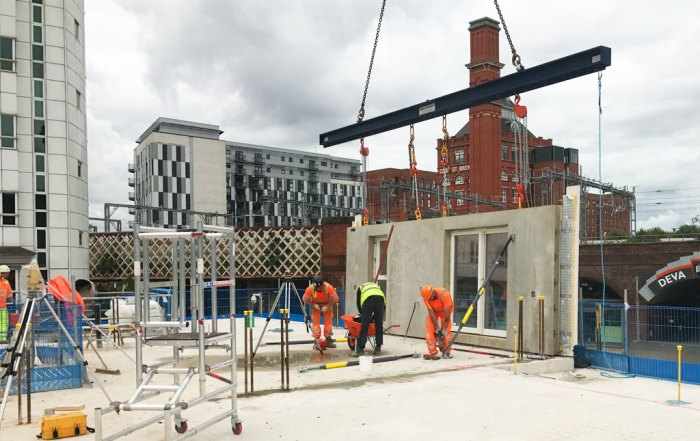 Precast concrete construction in Manchester