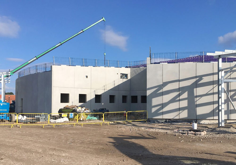 Blackpool Police HQ update 2 – curved walls provide clear line of site