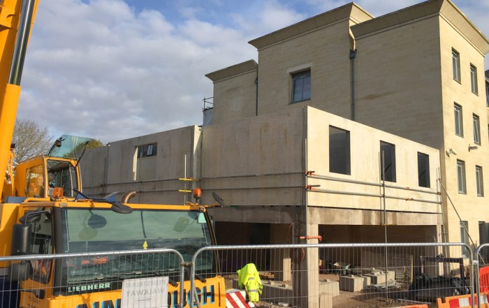 PCE erected an extension to the Holiday Inn Express Hotel at Bath