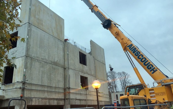 PCE were responsible for the erection of 72 precast concrete wall, floor, roof and stair units