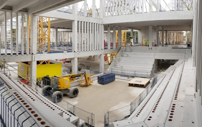 Construction of Kingston University London Town House auditorium