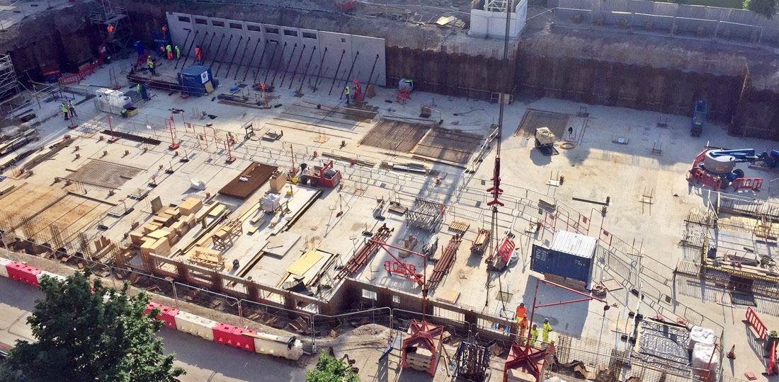 Capella was built using two cranes on a confined site with a relatively small footprint